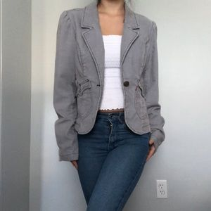 Levi's jeans light grey corduroy blazer/jacket L